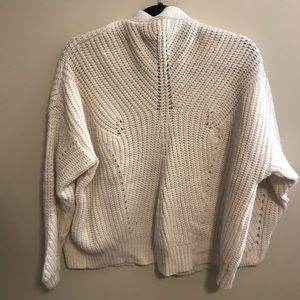 c57ce47d65c Off-white chunky knit oversized cardigan sweater